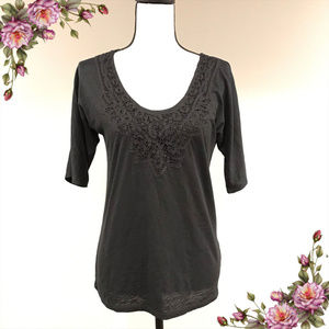 MAKE AN OFFER ;)Short sleeve top with lace details